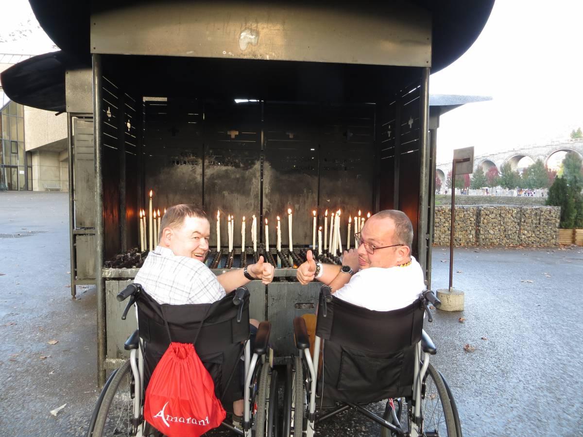 Cliënten naar Lourdes