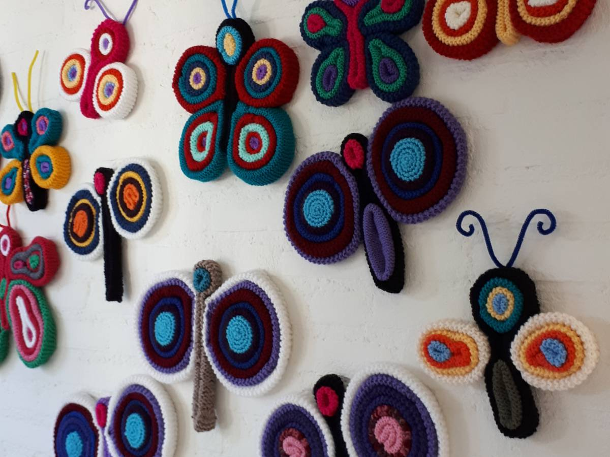 Vlinders aan de muur
