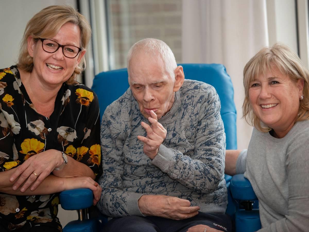 Van links naar rechts: Lisette, Harrie en Marjolein